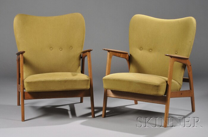 Two Armchairs Attributed to Arne Vodder