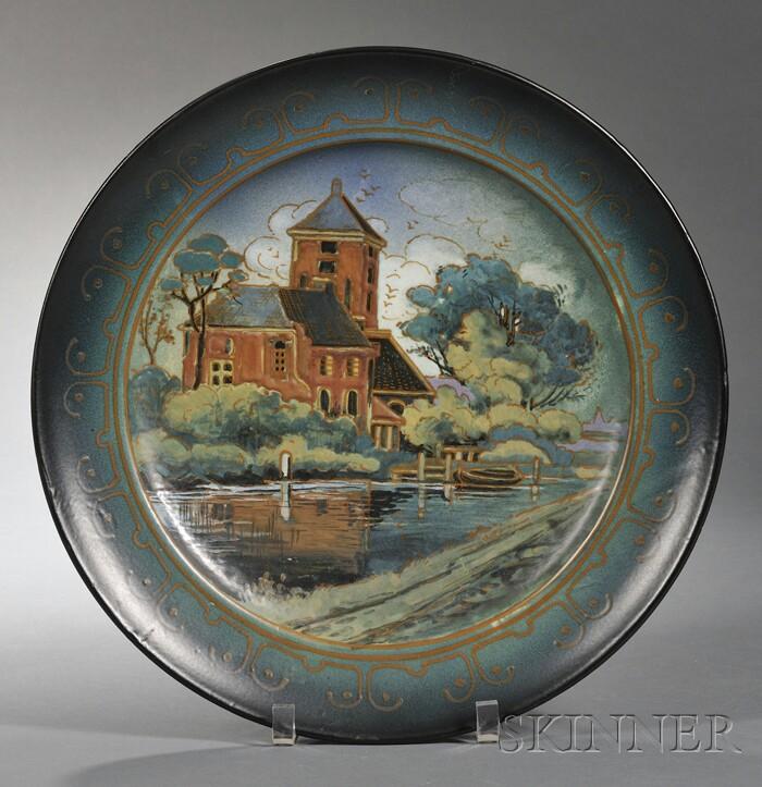 Arnhem Fayence Fabrier Matte Glaze Pottery Wall Charger