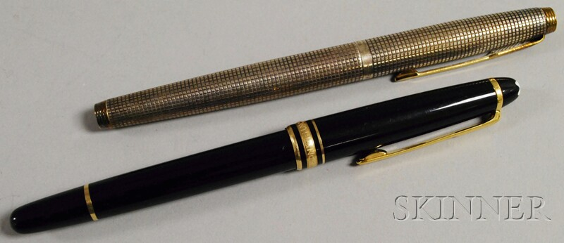 Mont Blanc Ball Point Pen and a Parker Sterling Silver Fountain Pen