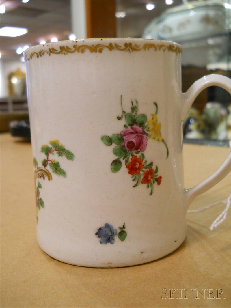 Pair of Cookworthy's Plymouth Porcelain Mugs