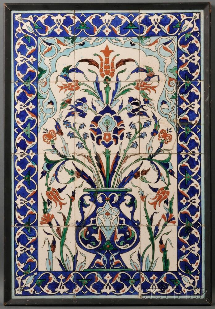 Iznik-style Tile Panel