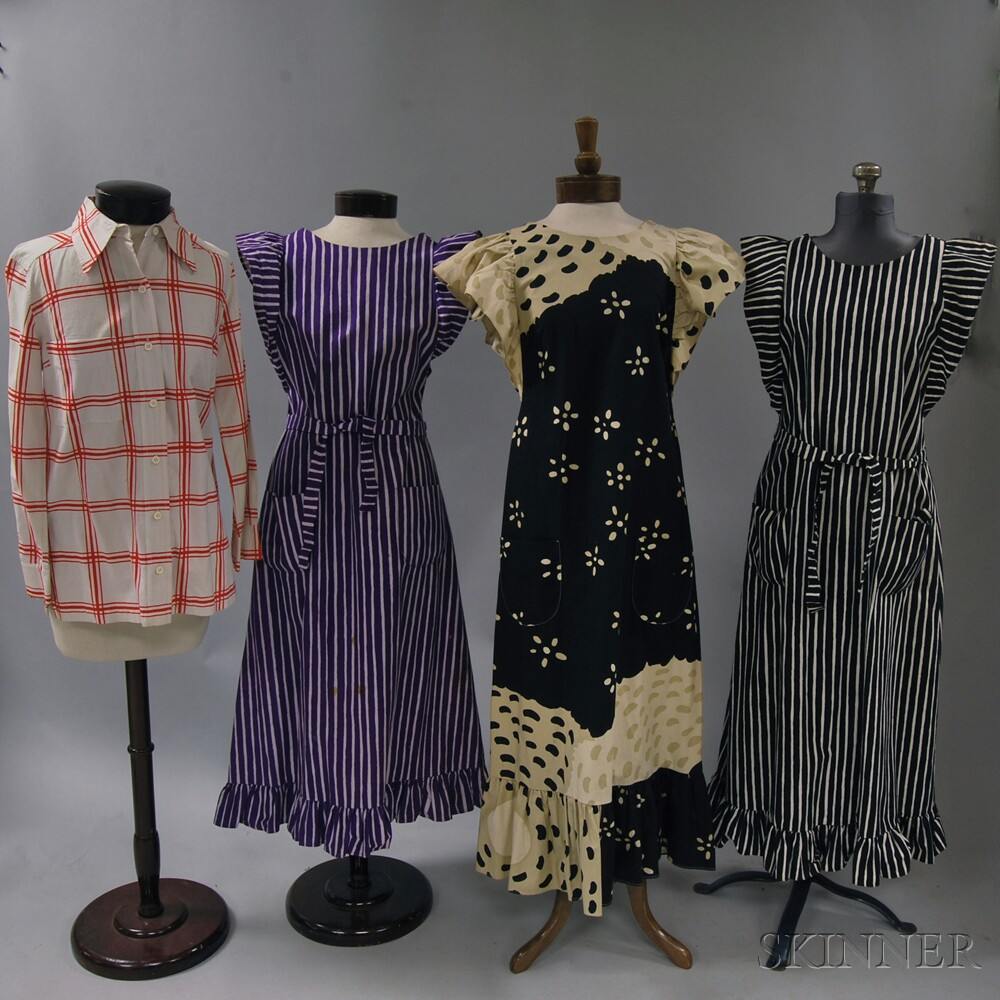 Group Of Vintage Marimekko Cotton And Linen Clothing