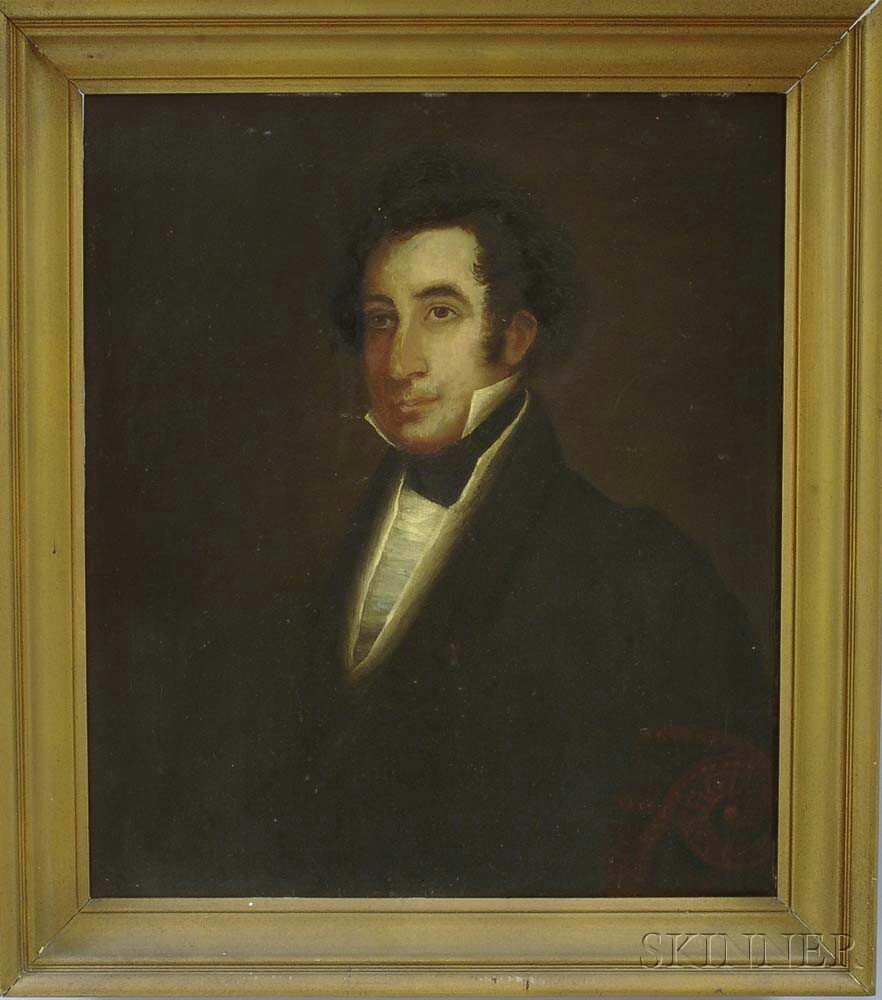 American School, 19th Century       Portrait of a Gentleman.