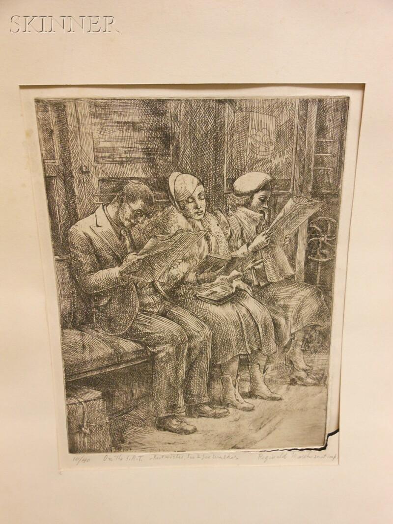 Reginald Marsh (American, 1898-1954)      Subway - Three People
