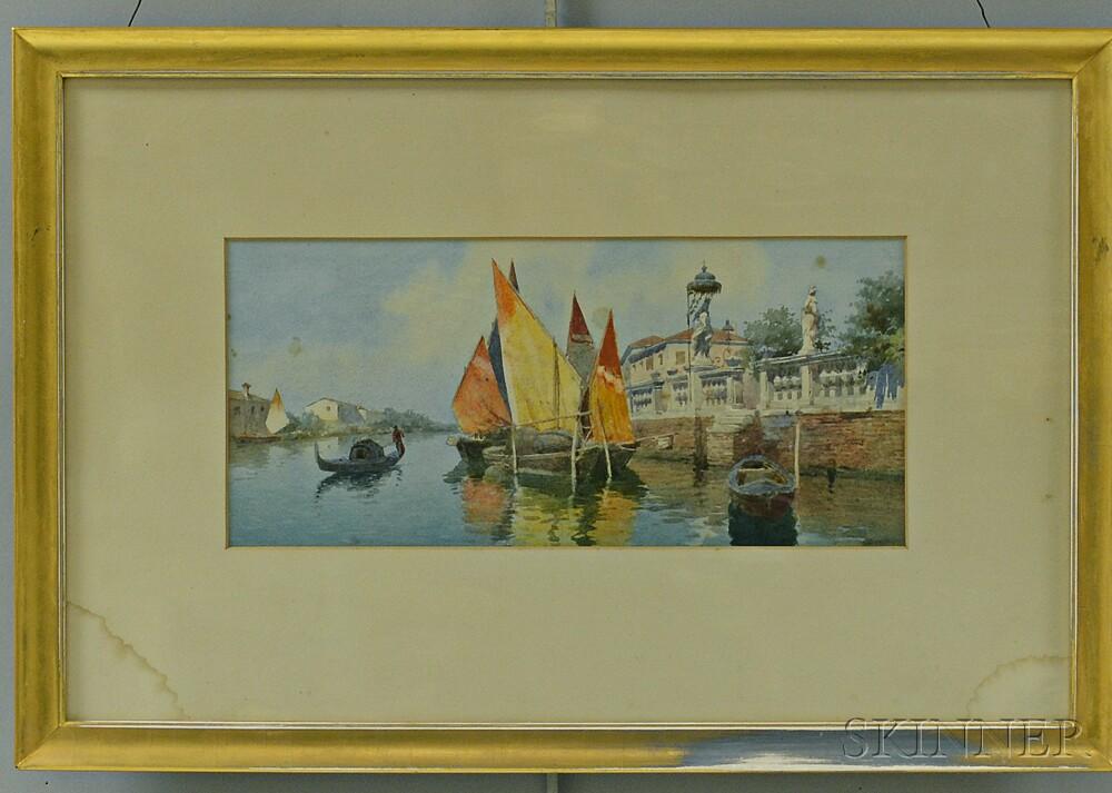 Eugenio Benvenuti (Italian, 1881-1959)           Canal in Venice
