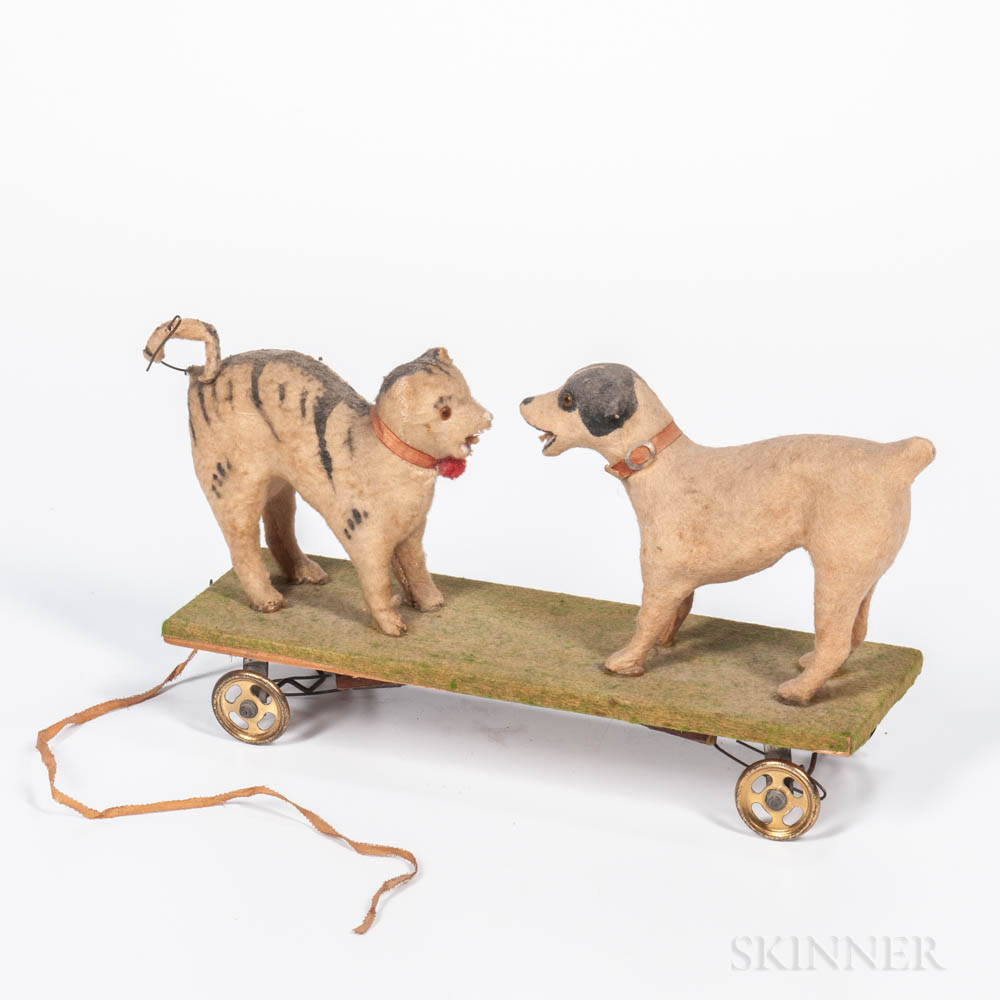 Double Squeak Dog and Cat Pull Toy