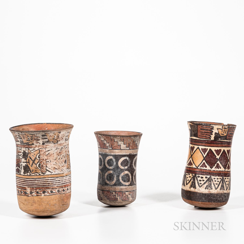 Three Pre-Columbian Polychrome Jars