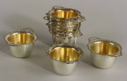 Ten Shreve & Co. Sterling Nut Dishes