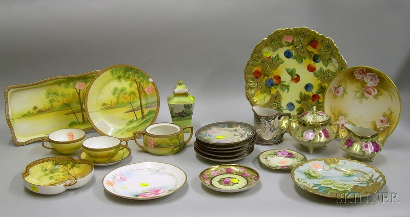 Twenty-two Pieces of Japanese and Nippon Decorated Porcelain Tableware.