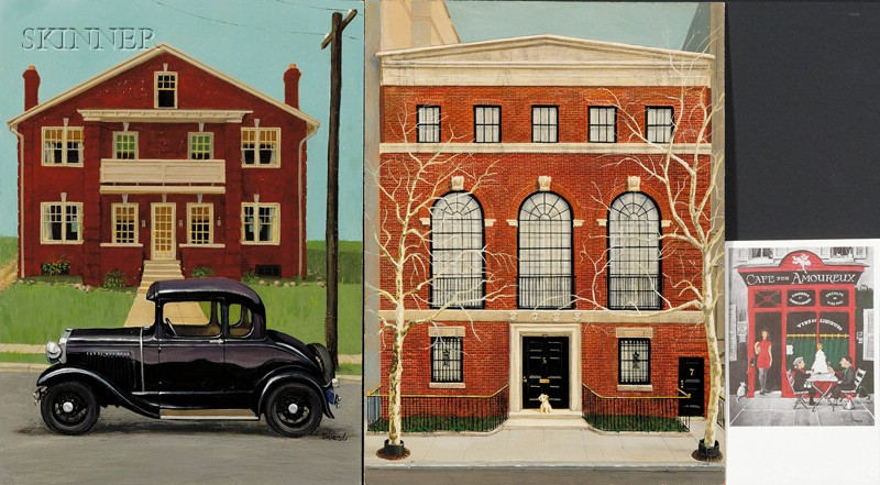 Robert Paul Sivard (French/American, 1914-1990)      Lot of Two Works: Model A Ford
