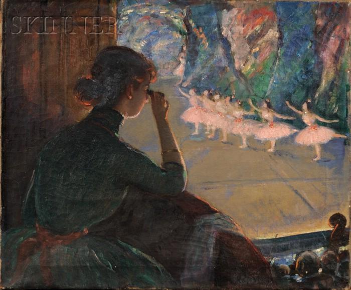 Louis Kronberg (American, 1872-1965)      At The Opera