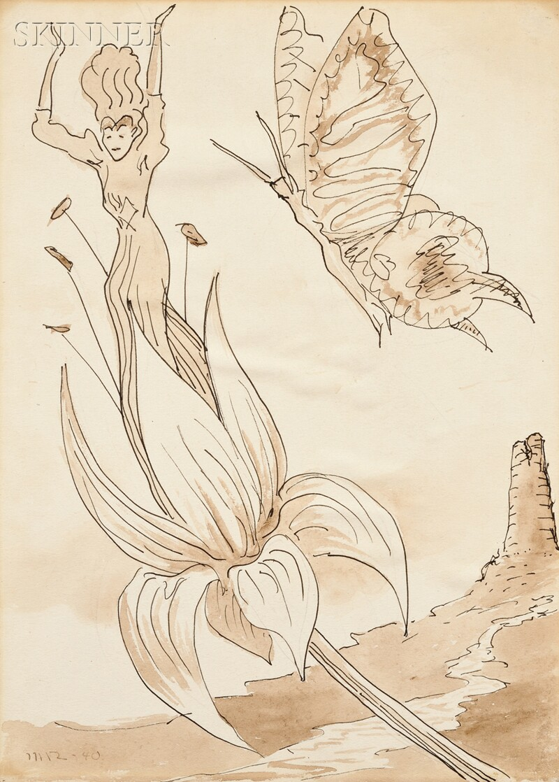 Man Ray (American, 1890-1976)      Untitled [Angel and Butterfly]
