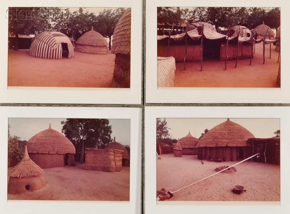 Carol Beckwith (American, b. 1945)      Four Color Photographs: African Houses, #1, #2, #3, #4