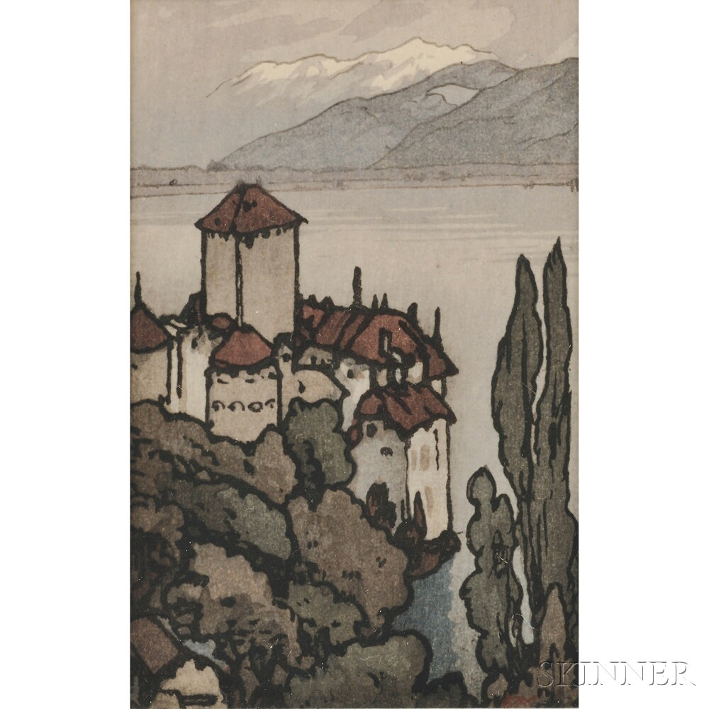 Hiroshi Yoshida (1876-1950), Castle at Chilon