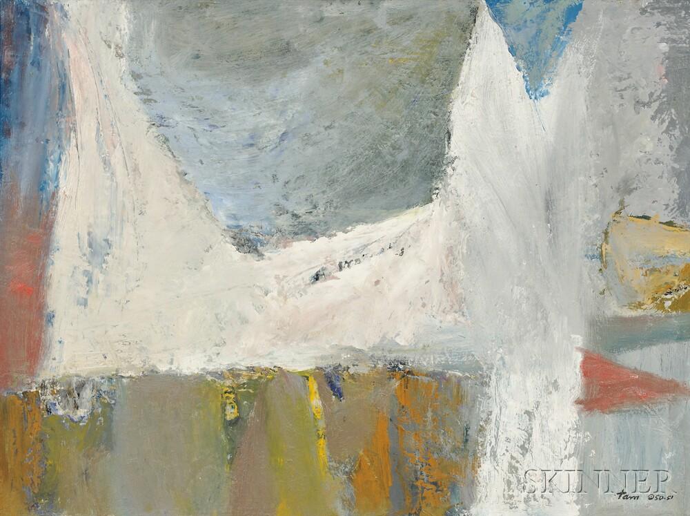 Reuben Tam (American, 1916-1991)      White Breaker