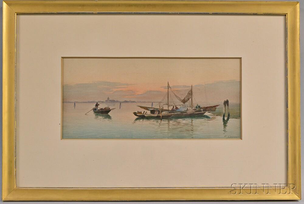 Eugenio Benvenuti (Italian, 1881-1959)       Naples Harbor Scene.