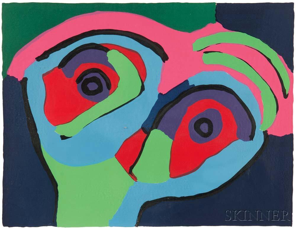 Karel Appel (Dutch, 1921-2006)      Untitled (Face)