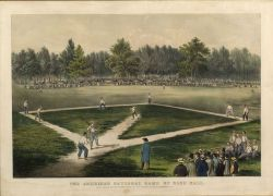 Currier & Ives, publishers (American, 1857-1907) THE AMERICAN NATIONAL GAME OF BASE BALL. GRAND MATCH FOR THE CHAMPIONSHIP AT THE ELYSI