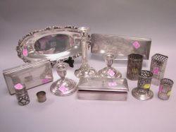 Twelve Sterling Silver Table Items
