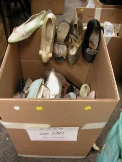 Large Assortment of 20th Century Womens Shoes.
