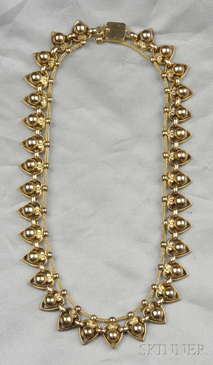 14kt Gold Fringe Necklace