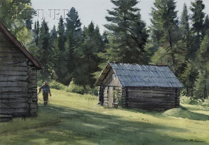 Aiden Lassell Ripley (American, 1896-1969)      Cabin at Camp Adams