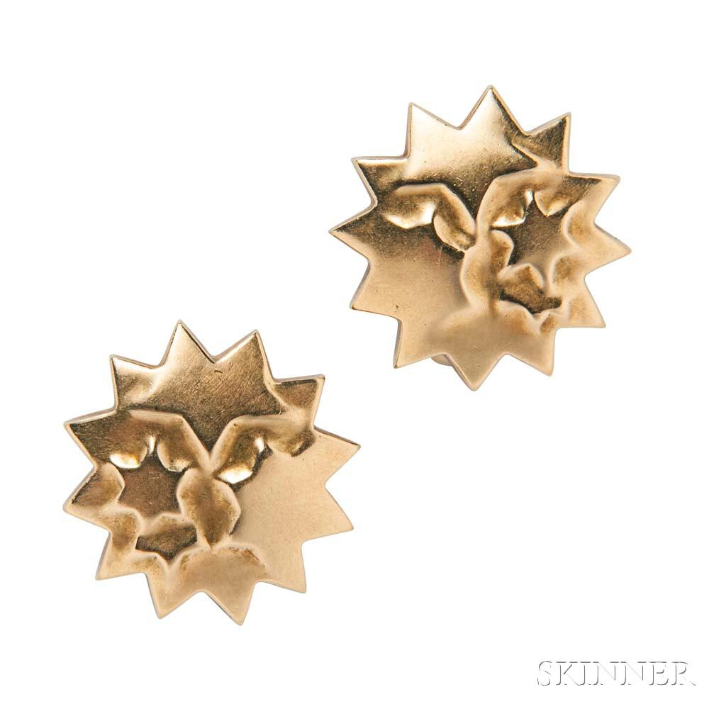 18kt Gold Earclips, Tiffany & Co.