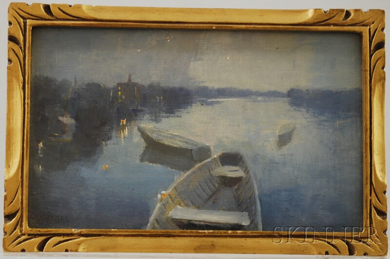 Henry Hammond Ahl (American, 1869-1953)      Nocturne.