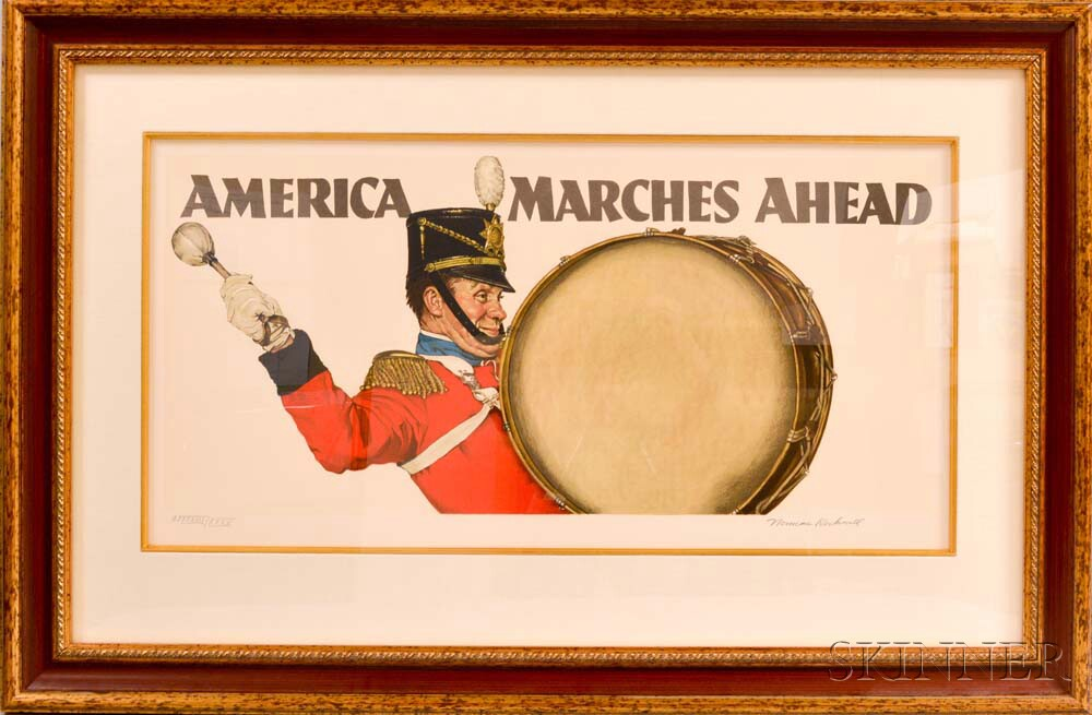 Norman Rockwell (American, 1894-1978)      America Marches Ahead