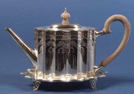 Sterling  Federal Reproduction Teapot and Stand