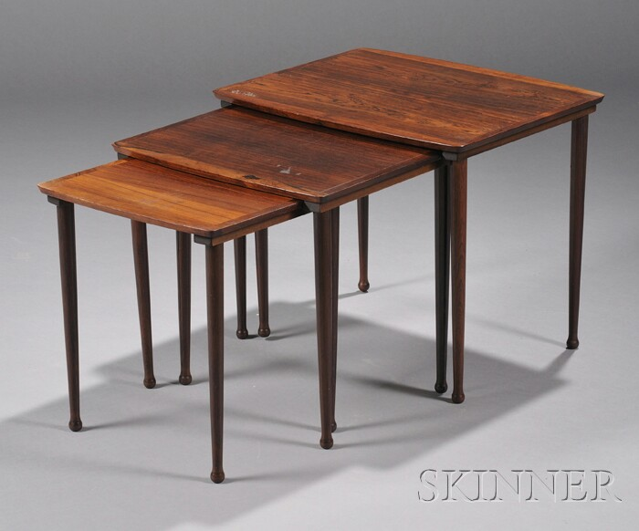 Three Danish Stacking Tables