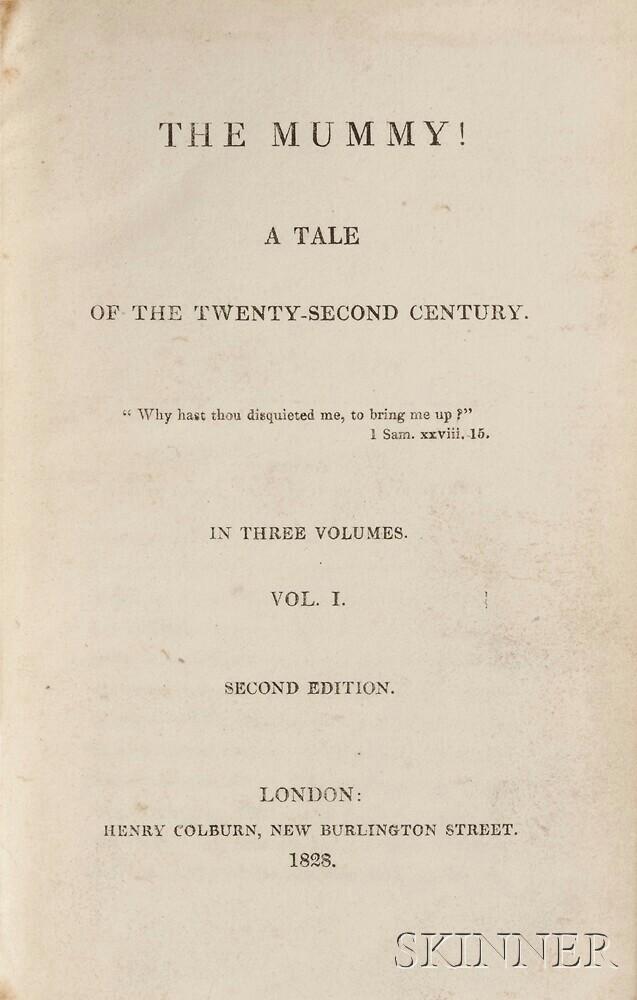 Loudon, Jane (1807-1858) The Mummy! a Tale of the Twenty-second Century.