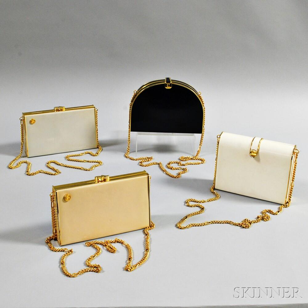 Four Linea Doppio Vintage Clutches