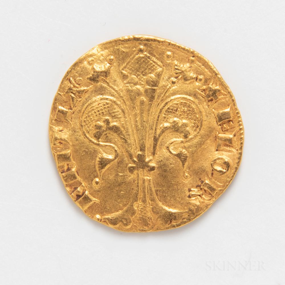 Florentine Gold Fiorino.     Estimate $400-600