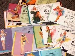 Collection of Forty-six Vintage Pin-up Calendar Panels