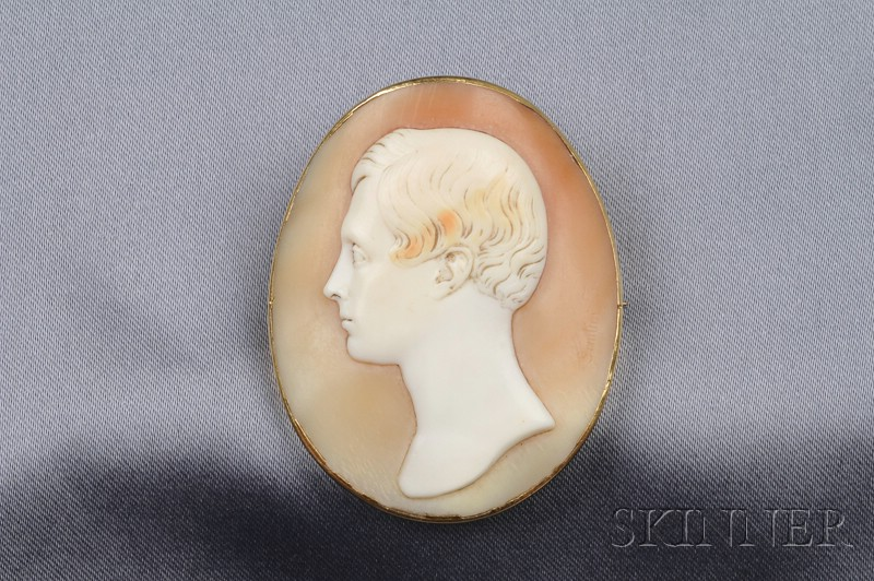 Antique Shell Cameo Brooch, Saulini