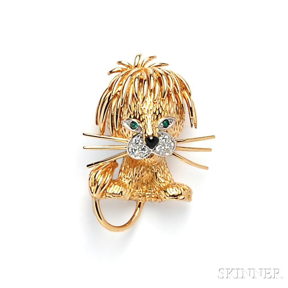 18kt Gold Lion Brooch, Van Cleef & Arpels