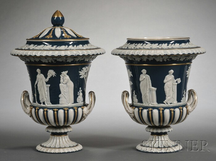 Pair of Wedgwood Victoria Ware Vases