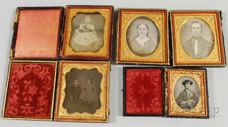 Lot of Assorted Collectibles and Early Portrait Photography