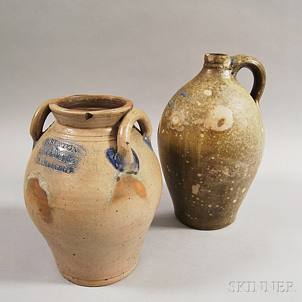 Two Early Stoneware Vessels