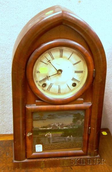 Mahogany-veneered Beehive Clock