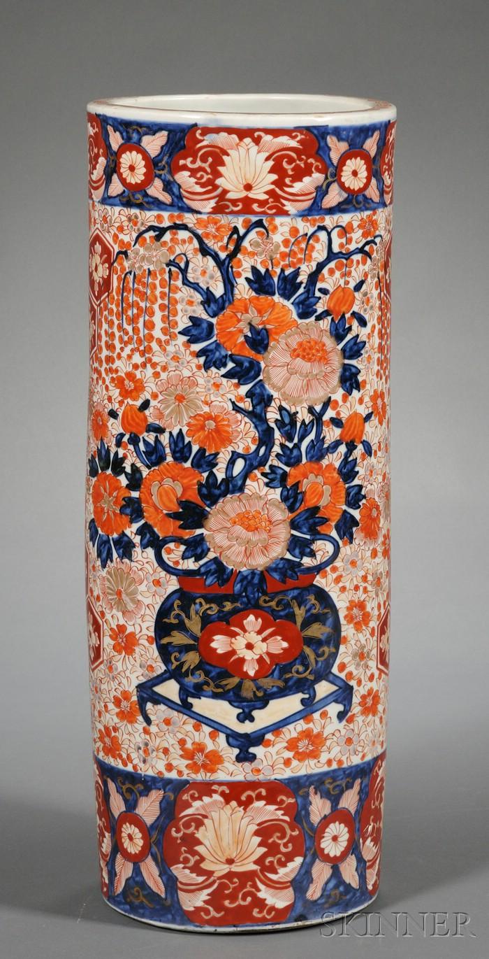 Imari Palette Porcelain Umbrella Stand
