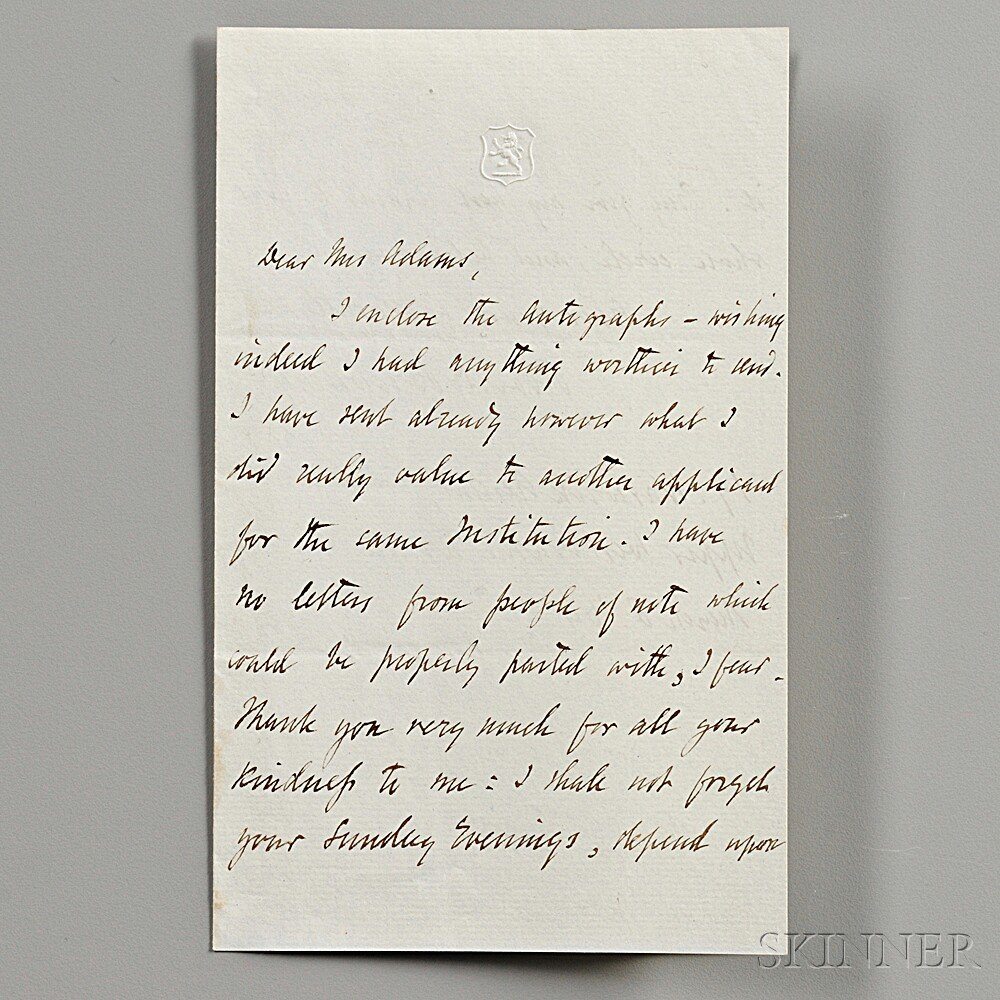Browning, Robert (1812-1889) Autograph Letter Signed, 8 March 1864.