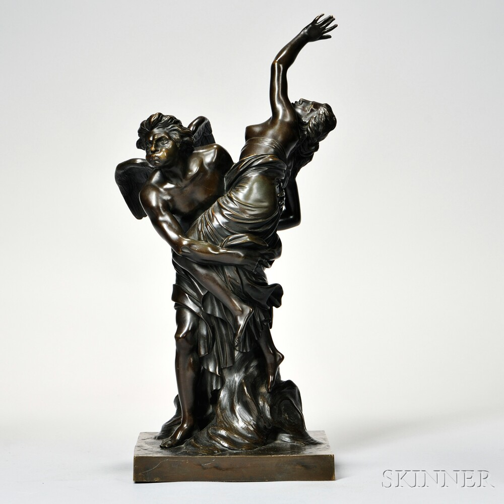 French School, Late 19th/Early 20th Century       Bronze Depicting the Abduction of Chloris by Zephyr