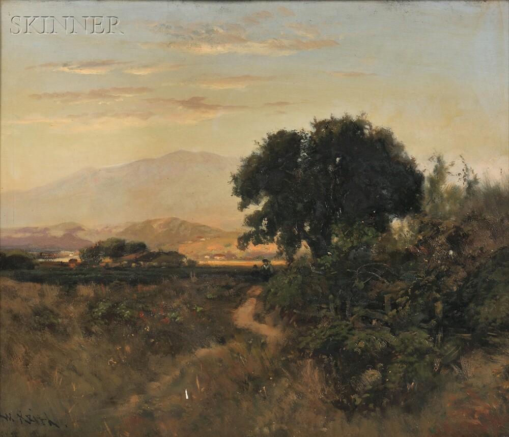 William Keith (American, 1838-1911)      Dawn in the Desert Southwest