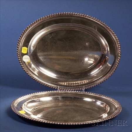 Pair of Matthew Boulton Silver Plate Platters