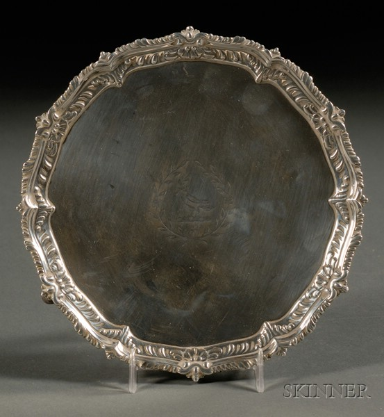 George III Silver Card Salver