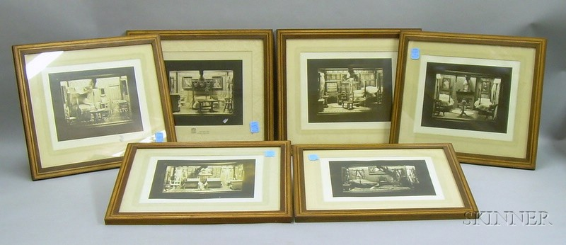 Lot of Six Framed Photos of Miniature RoomsLot of Six Framed Photos of...