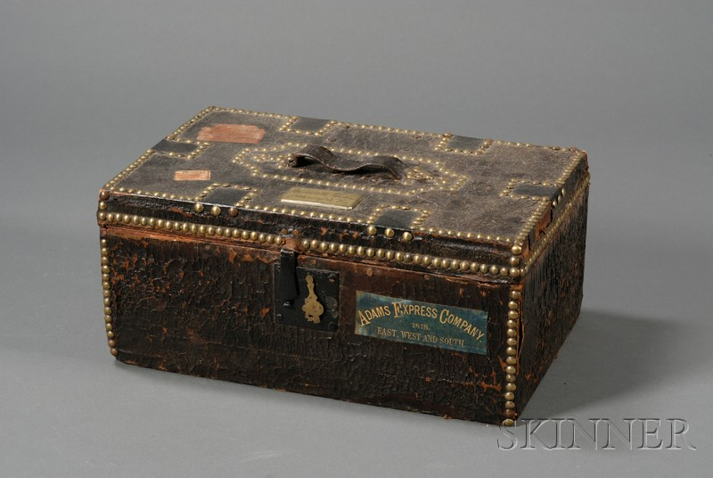 Brass-studded Leather Document Box