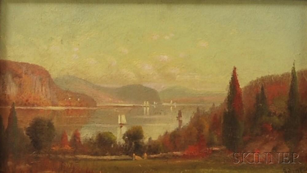 M. DeForest Bolmer (American, 1854-1910)      Hudson River View.